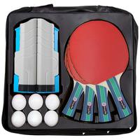 Customized Custom Professional Table Tennis Paddle Racket Set with Net Come with Gift Storage Case