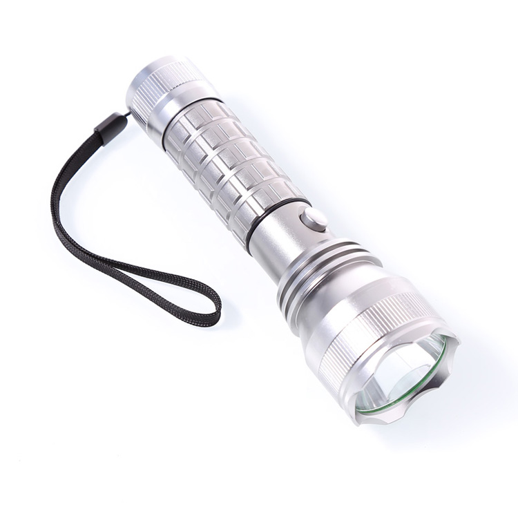 Super Bright Sạc 1000 Lumens LED Flashlight Torch với Compass