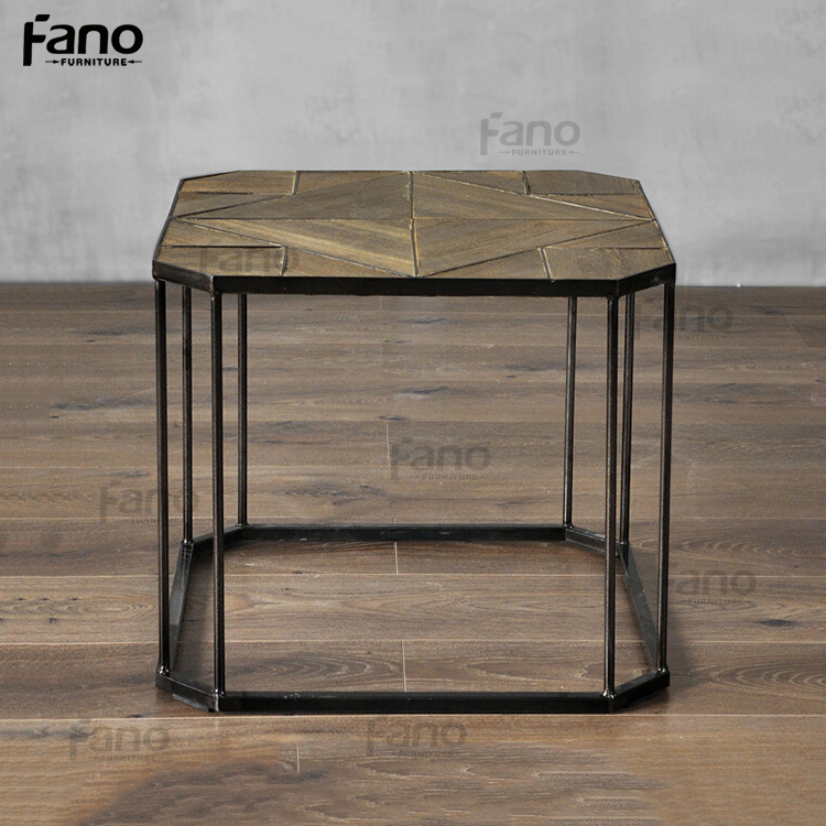 2015 newest geometric indian metal coffee tables