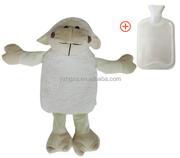 2017 Lovely Modern Luxury Target Thick Plush Sheep Hot Water Bag