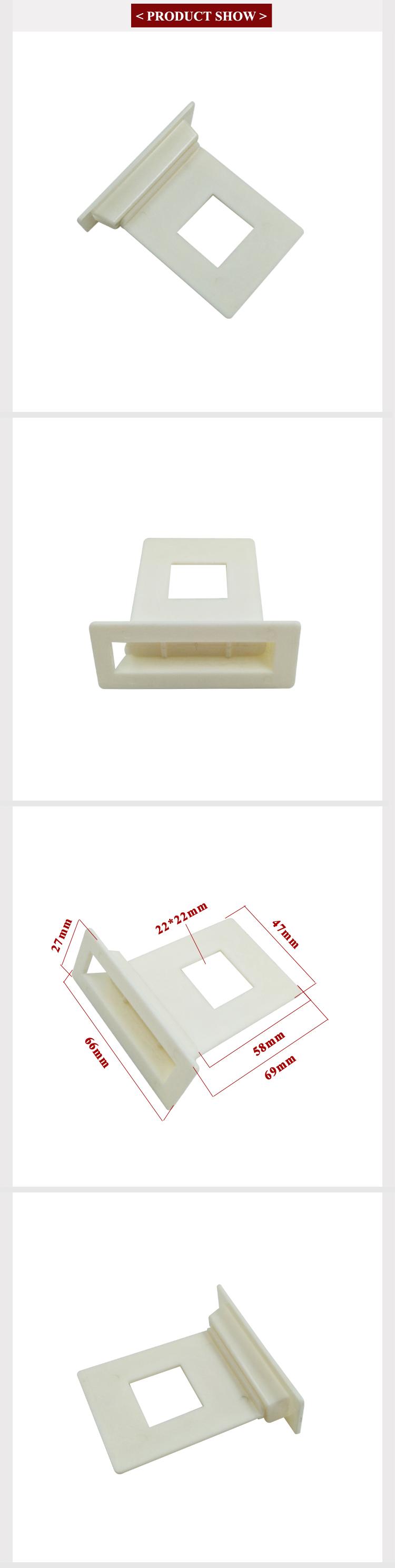 De alta calidad de plástico al por menor de ala Clips colgante pantalla ABS corrugado soporte de estante