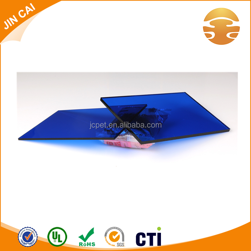 High quality transparent acrylic sheets color blue