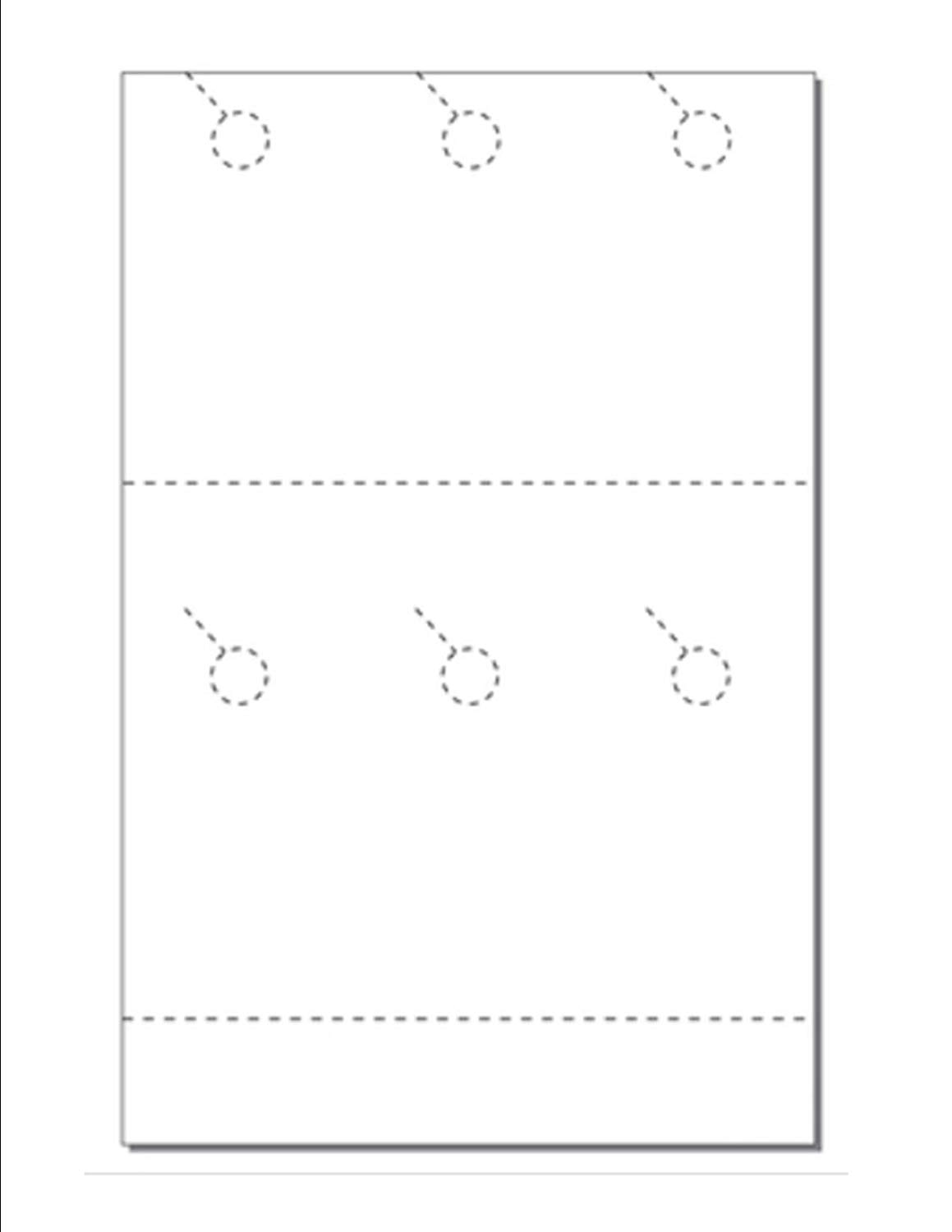 """Print-Ready Door Hanger w 2-inch Perfed Coupon (3-1/2"""" x 8-1/2""""), 6-UP on 11"""" x 17"""" White 67lb Vellum Paper - 250 Sheets (1500 Hangers)"""