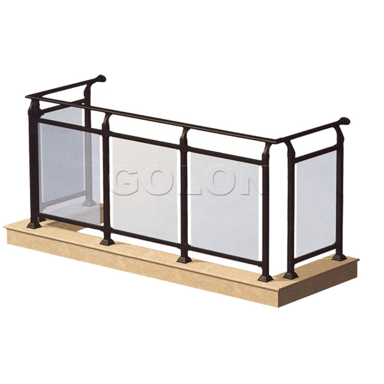 2016 popular designs balcony railing height stair glass for Balcony glass railing designs pictures