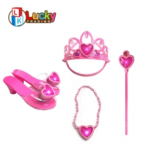 new brand best toys light up crown beauty set girl games for princess dress up