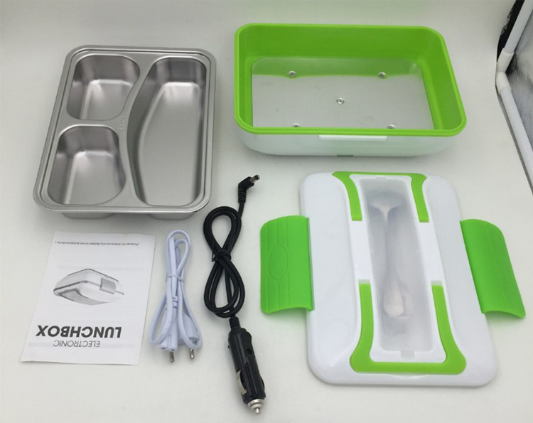 Electric Lunch Box Food Heater Portable Stainless Steel Food Warmer Container