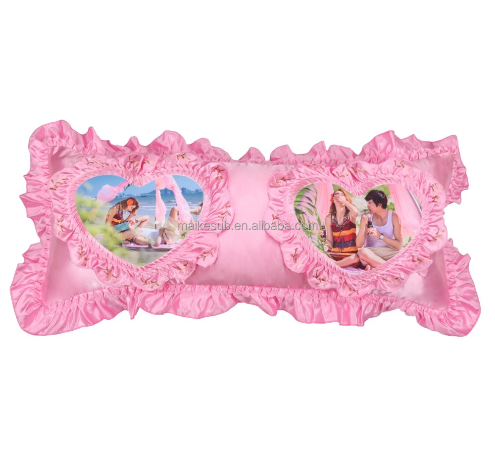 girls loved pink pillow sublimation blank heat transfer press pillow