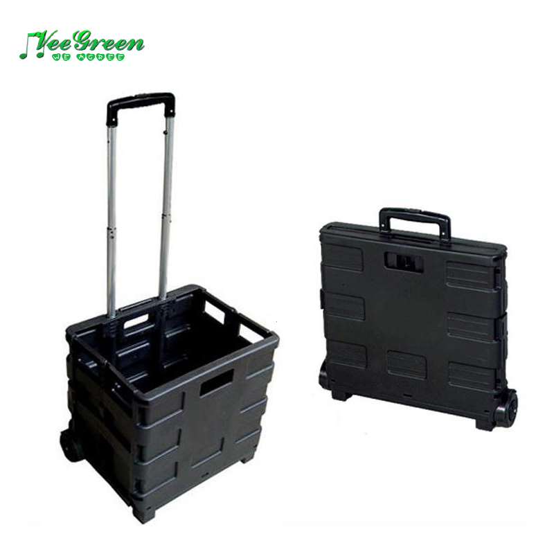Plastic Folding Packing Cart for Office