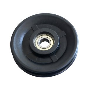 fitness parts low price plastic guide pulley, gym cable wire pulley wheel