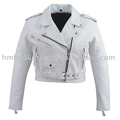 Hmb-0329d Women Leather Jackets Basic Biker White Fashion Coats ...