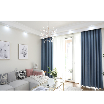 Modern Minimalist Nordic Style Gray Blue Curtains Living Room Bedroom Shade  Solid Color Curtain Finished Products Custom - Buy Customize Color Soccer  ...