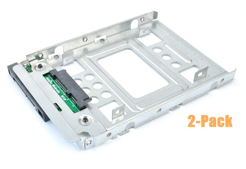 """(2-Pack) 2.5"""" SSD to 3.5"""" SATA Hard Disk Drive HDD Adapter CADDY TRAY CAGE Hot Swap Plug"""