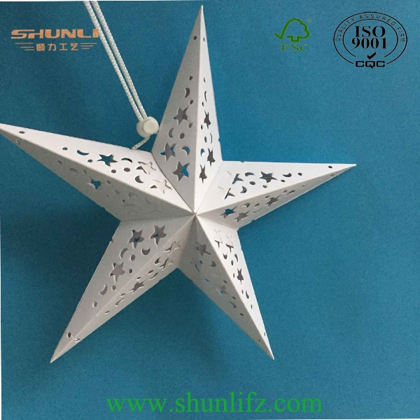 Paper star lantern lampshade with power cord included for christmas paper star lantern lampshade with power cord included for christmas wedding party home hanging decorations aloadofball Gallery