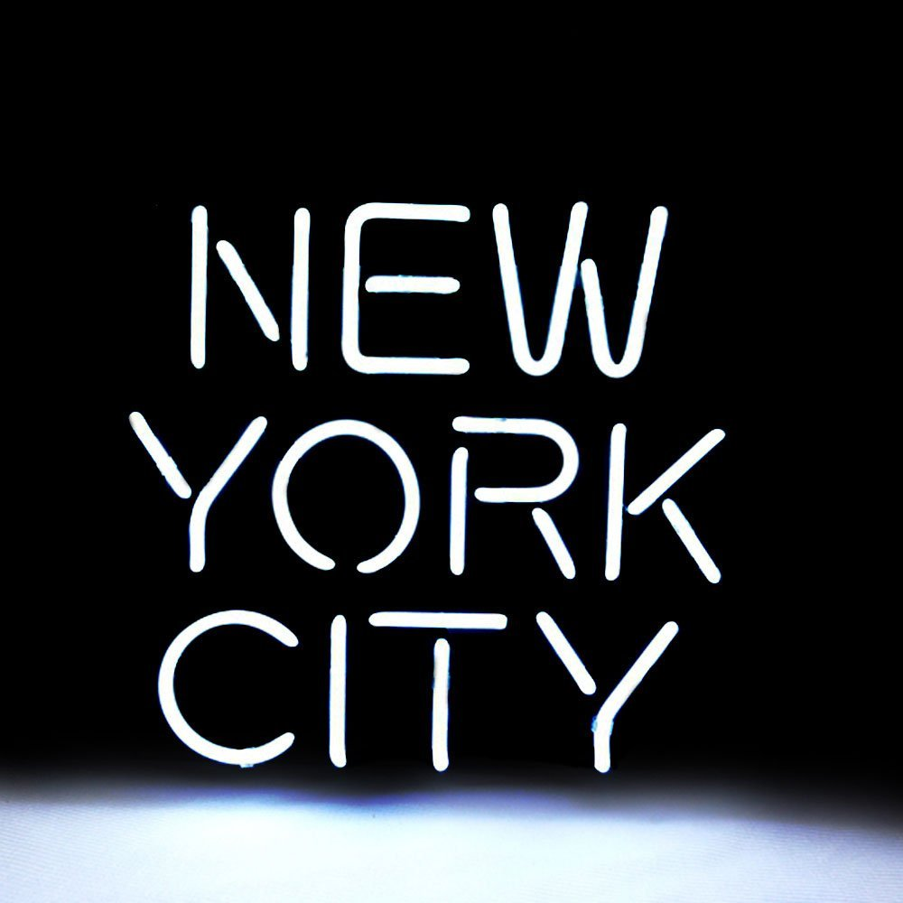 "Neon Signs Neon Light Sign Led Neon Sign Neon Room Lights Neon Wall Signs Love Neon Sign Art Neon Sign Neon Lamp Words Quote Wall Decor Bedroom Bar Neon Signs White, New York City, 12"" x 10.6"""