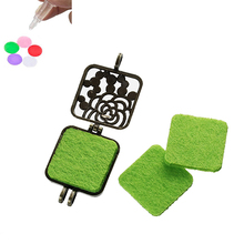 Wholesale Square Green Nonwovens Felt Oil Diffuser Locket Pads