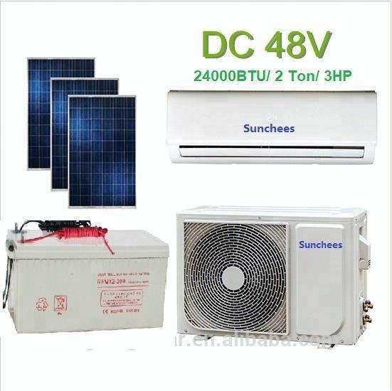 18000BTU hybrid AC/DC di alimentazione solare spaccato condizionatore d'aria per la casa