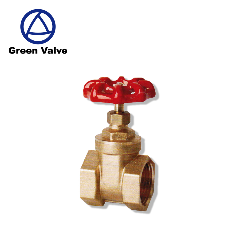 Green-GutenTop GT2083 Brass Valve BSP Equal Female Thread Gate Valve for gas