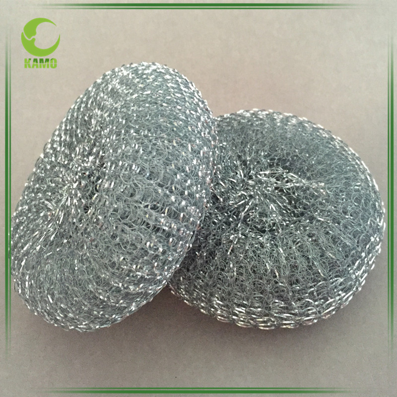 Kitchen Utensils Scrubber Galvanized Mesh Pot Scourer For Washing Dishes