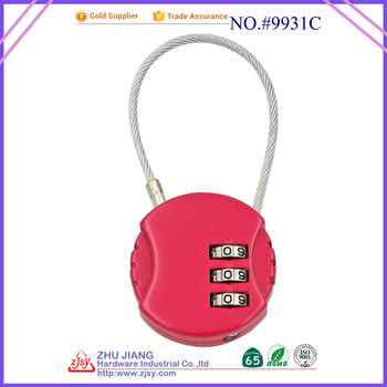 factory wholesale tsa 3 digit combination luggage cable cheap padlocks