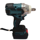 Hot sale rechargeable lithium battery electric brushless impact wrench