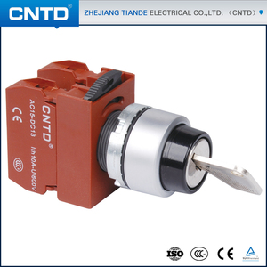 CNTD Chinese Company Names Key Knob No Nc 22mm 30mm Illuminated Push Button Switch