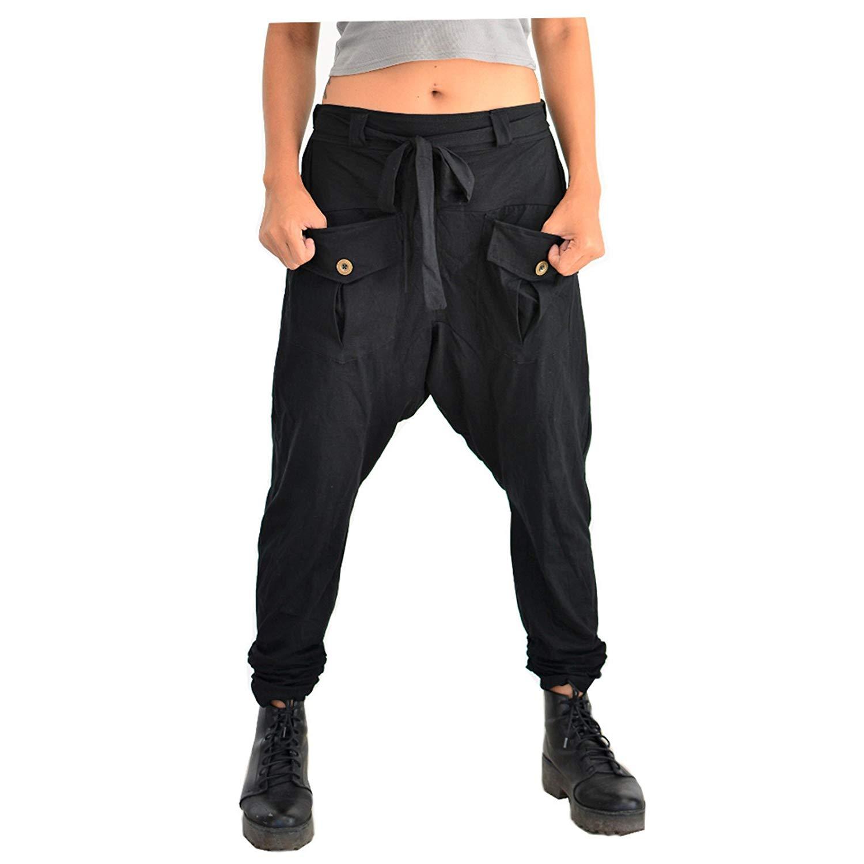 dd41591663dbec Get Quotations · Siamrose Harem Pants Men Women Baggy Pants Boho Hippie  Drop Crotch Pants Yoga Pants