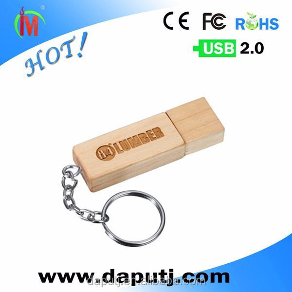 Factory provide usb flash drive wood