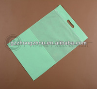 Large clear clothing zip-lock plastic packing bag with sliding chain head for garments
