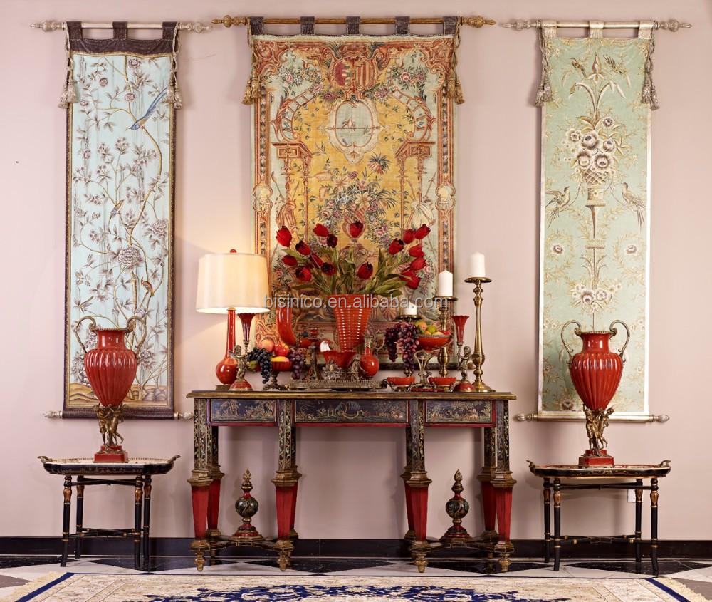 estilo rococ francs vintage pintado a mano consola reposteria muebles tallados de madera de lujo