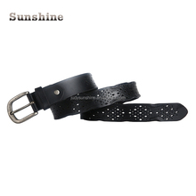 Handmade Custom Fashionable High-quality Lady hollow Leather Belts