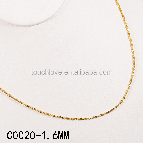 C0020-1.6MM Cheap Wholesale Chain Accessories 18k Gold Plated Chains