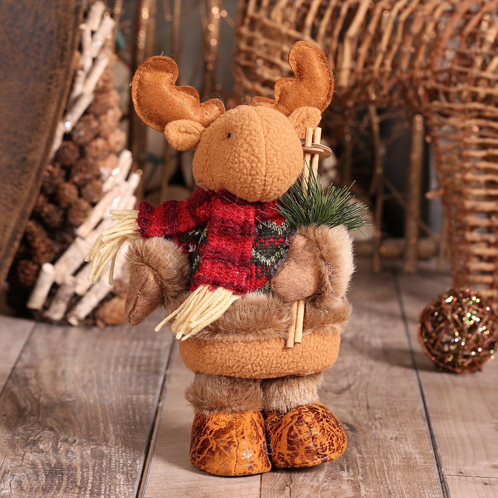 """Christmas Decorations, Christmas Reindeer Toy Festive Home Party Decor Ornament Crafts 11""""x4"""""""