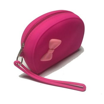 Silicone Hand Bag Women Cosmetic Makeup Bag Oem Design Fancy Wallet