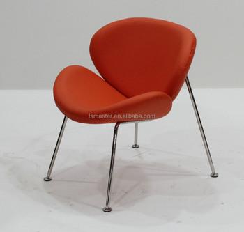 Replica Fiberglass Chair Leisure Living Room Orange Slice Chair