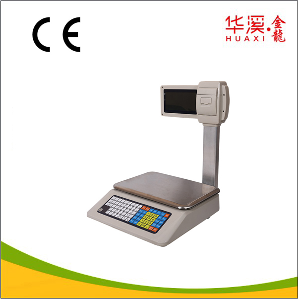 Electronic Weighing Scale Label Printing Barcode / Digital Scale USB