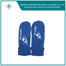 Customized 100% Acrylic with Fleece Lining Knitted Mittens