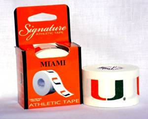 Athletic Tape - Univ of Miami Hurricanes (1.5in X 10yds)
