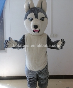 Instock gray wolf mascot costume adult/realistic wolf costume for adult!!!