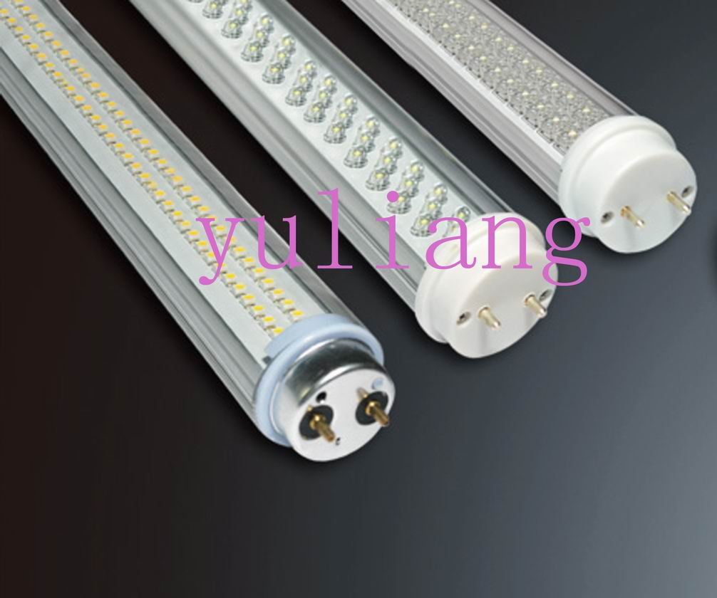 White Color T8 Fluorescent Tube Lighting Fixture With Led