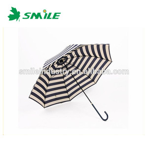 Navy Striped Umbrella Of Super UV Rain Umbrella