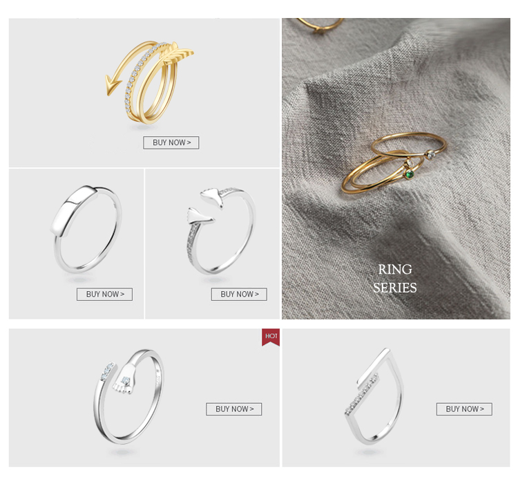 Pure 925 Silver Engraved Logo Rings Jewelry Women