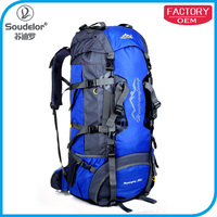 80L Outdoor Hiking Trekking Backpack Waterproof Mountaineering Bag Large Travel Climbing Rucksack with Rain Cover and Frame