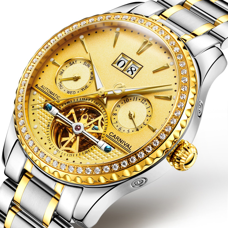 Chinese wholesale gifts brand your own stainless steel sapphire glass automatic watches for men фото