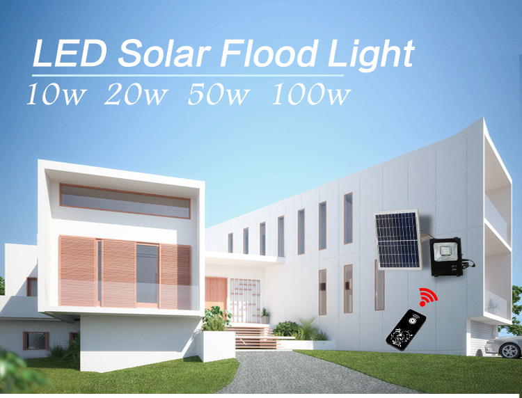 10w 20w 30w 50w 100w ip65 outdoor waterproof smd solar led floodlight