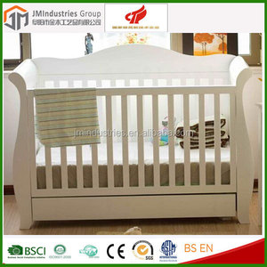 modern 4 in 1 convertible wooden baby crib