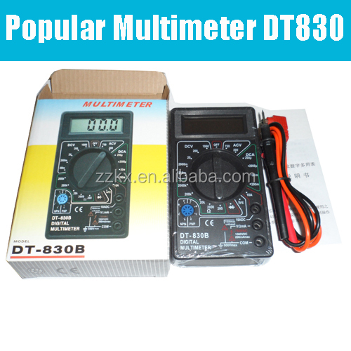 Popular LCD Digital Voltmeter Ammeter Ohm Multimeter DT830B With CE