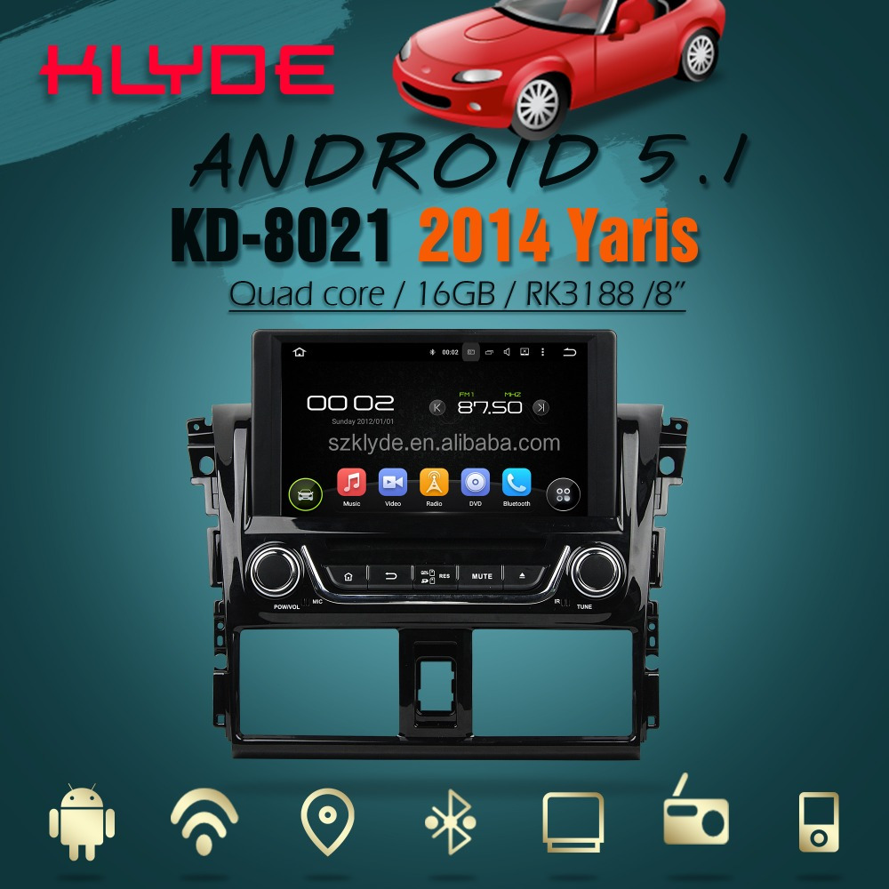 IPS screen 2016 new special quad core 5.1.1 Car DVD for 2014 Yaris/Vios