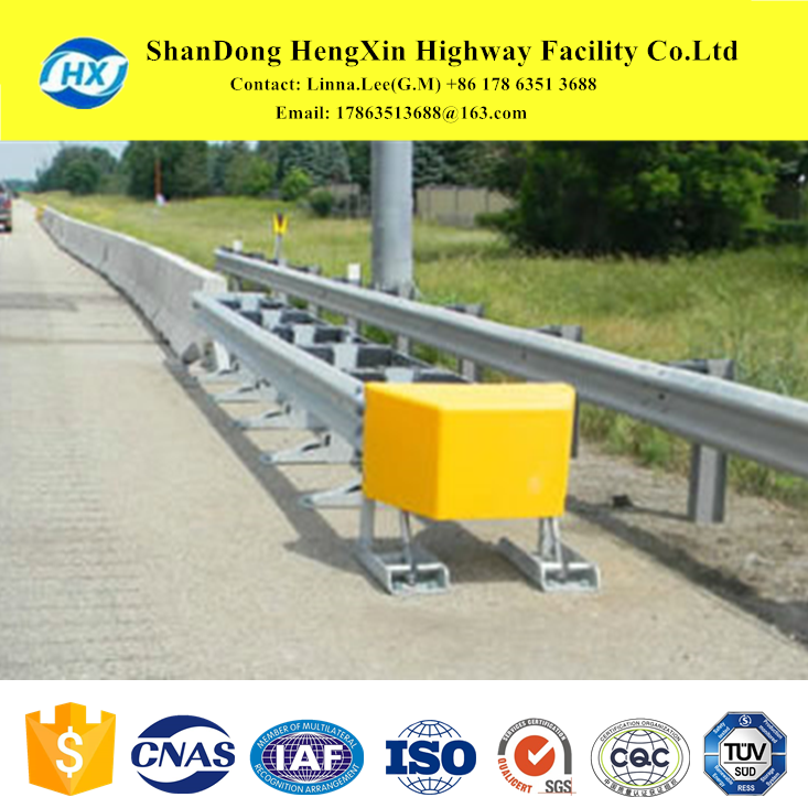 extensive inventory of highway guardrail products, terminal end conditions, and crash post for domestic and abroad from HengXin