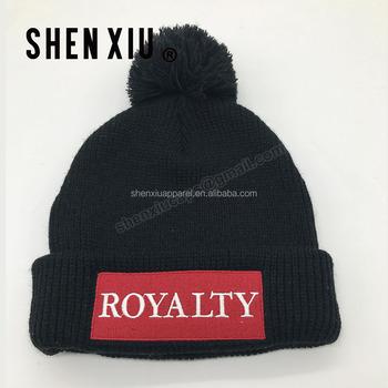 1670821a8fd Good Looks Custom Designer Mens Black Bobble Hat Beanie Hat For Men ...