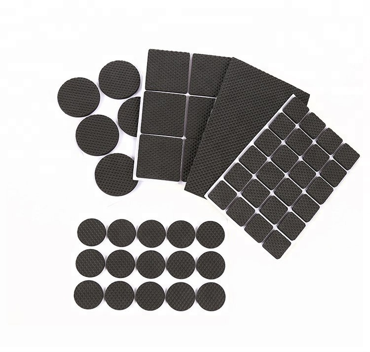 New 200sets Self Adhesive Mat Table Chair Round Furniture Leg Pads Protector Feet Floor Square Slip Mats Bumper Home Hardware Complete Range Of Articles Furniture Legs